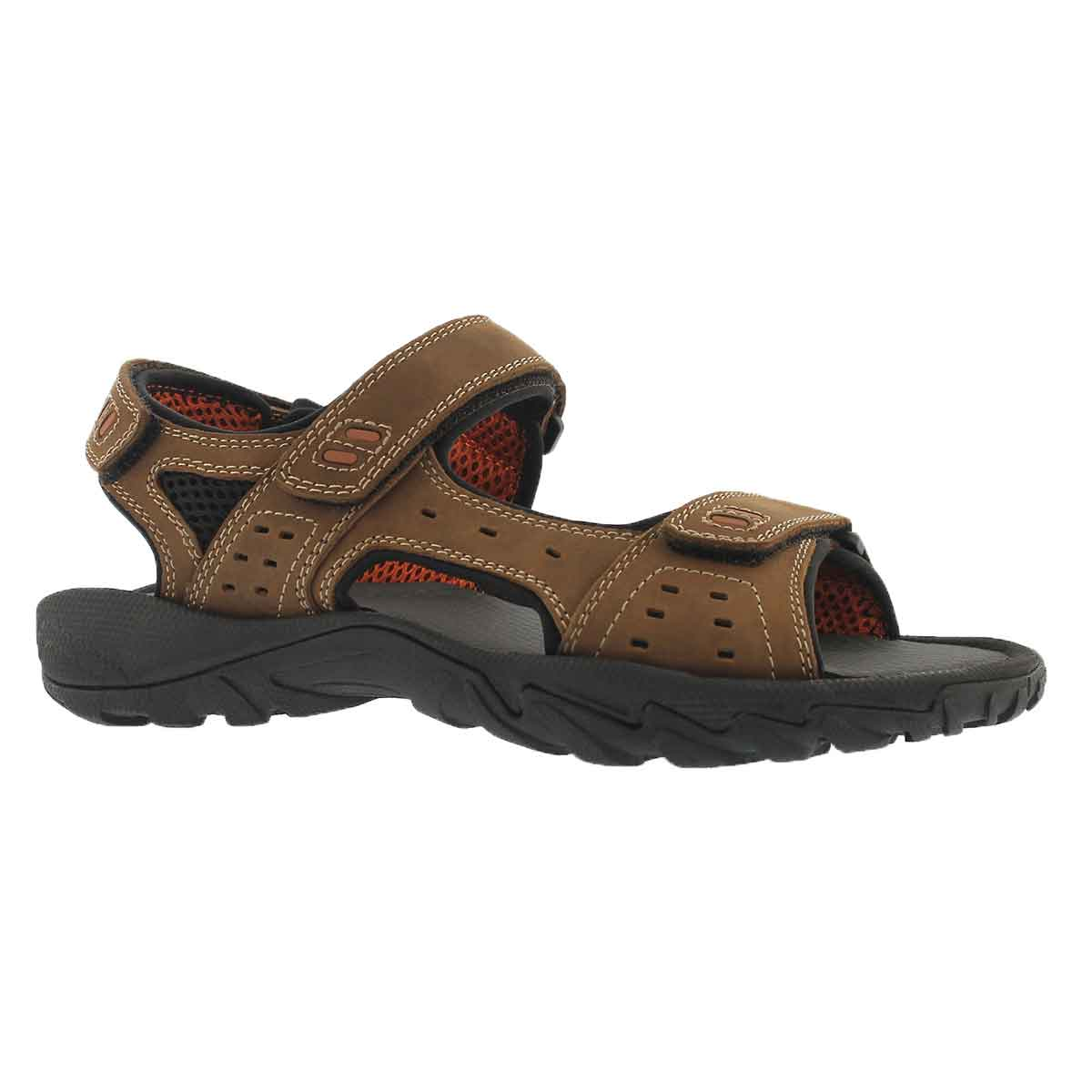 Men's LUCIUS 3 brown 3 strap sport sandals