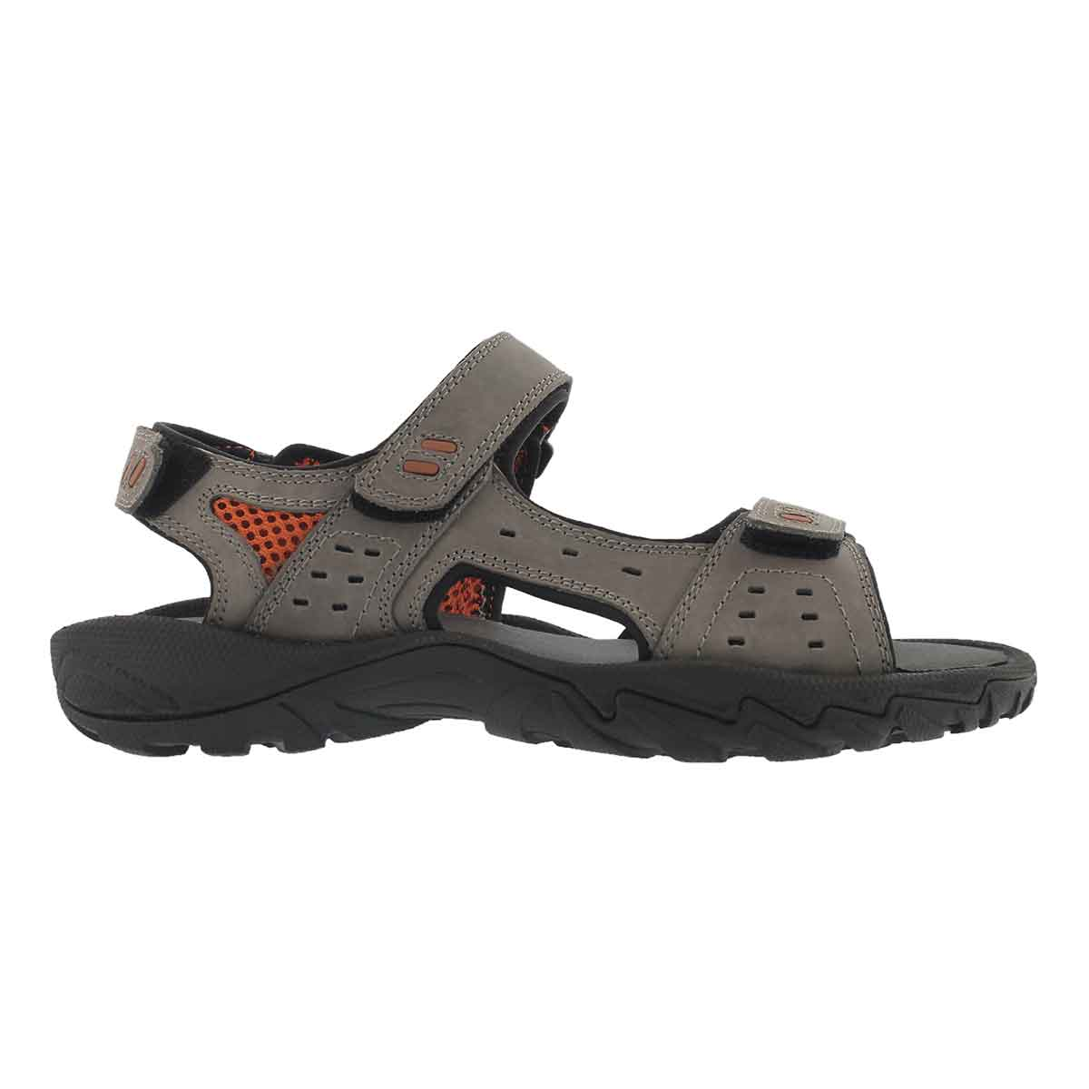 Mns Lucius 3 grey 3 strap sport sandal