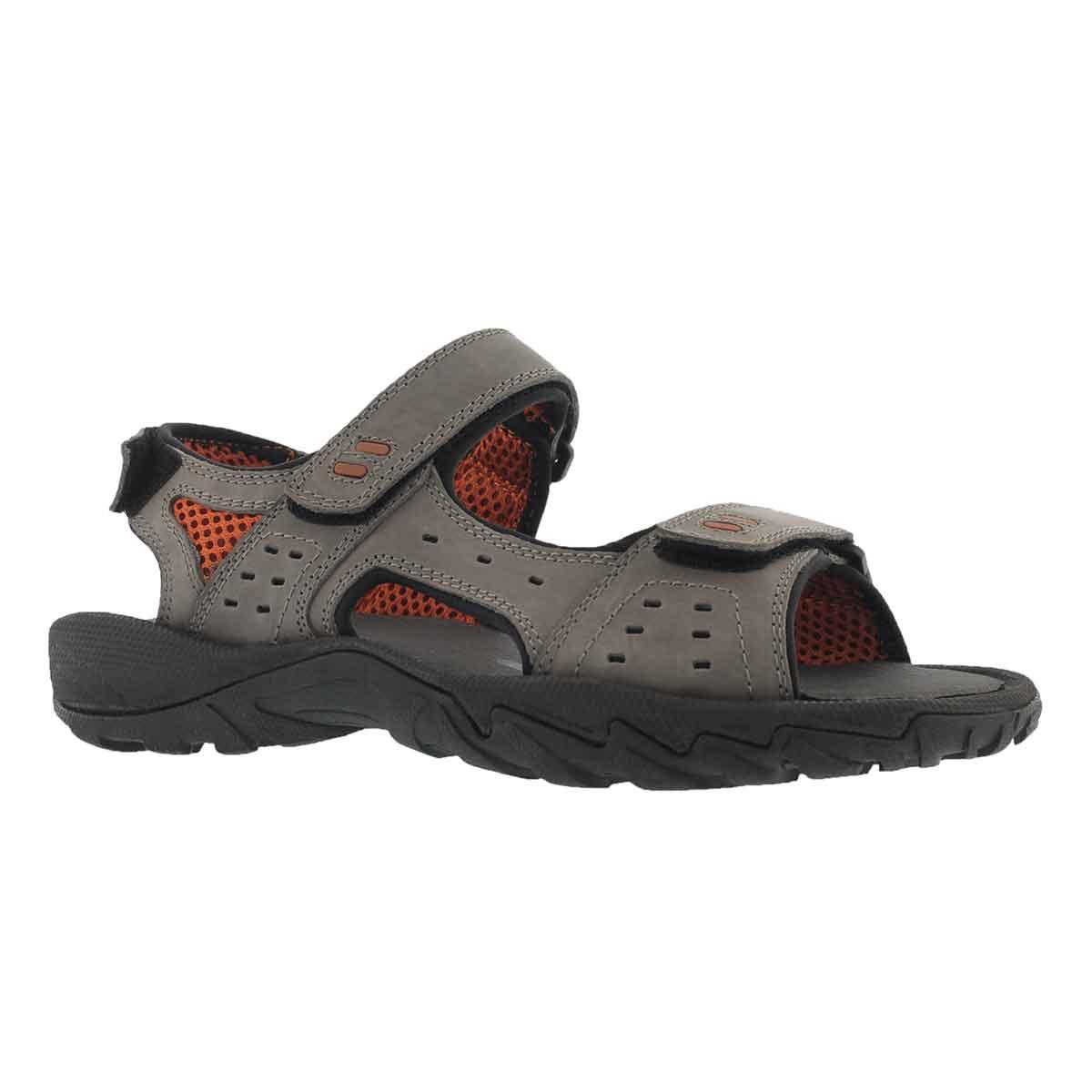 Men's LUCIUS 3 grey 3 strap sport sandals
