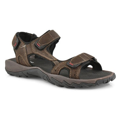 Mns Lucius 4 brown 3 strap sport sandal