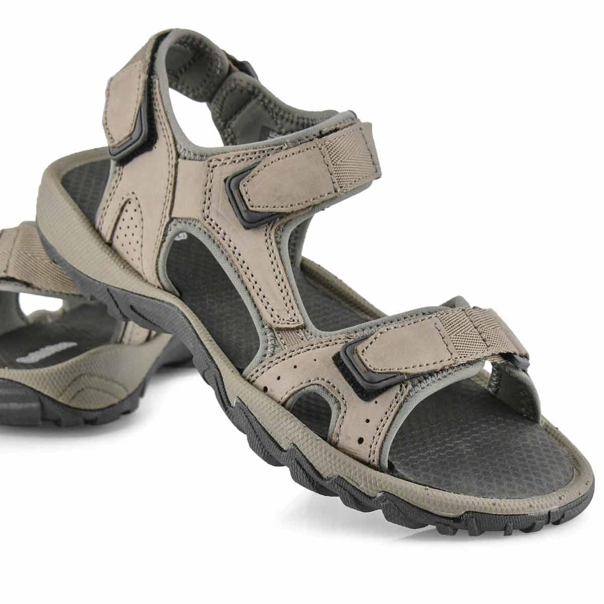 Mns Lucius 4 grey 3 strap sport sandal