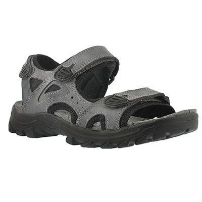 Mns Luke grey 3 strap sport sandal