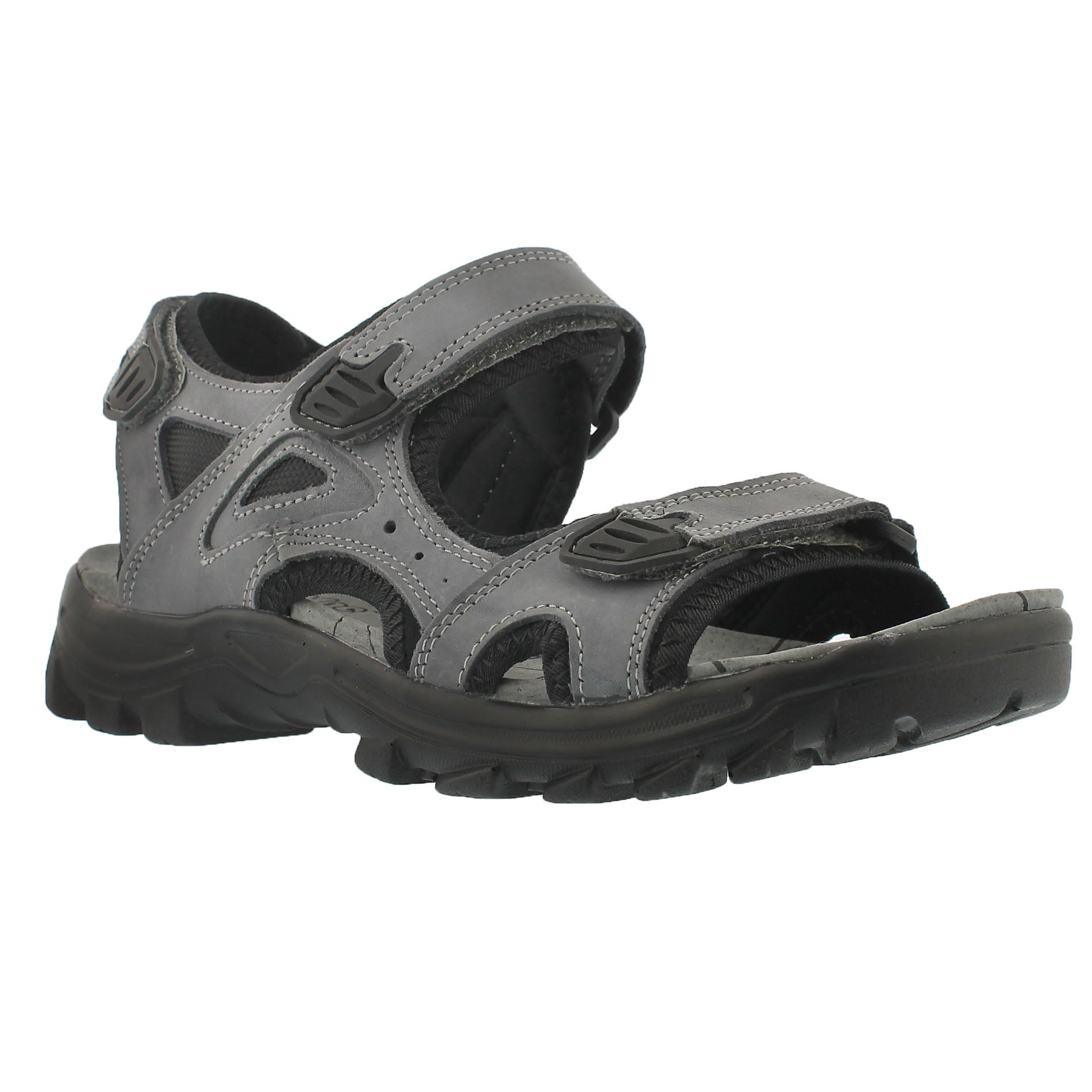 Men's LUKE grey 3 strap sport sandals