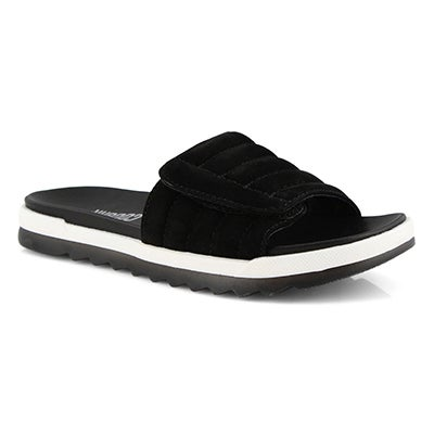 Lds Lupin black slide sandal