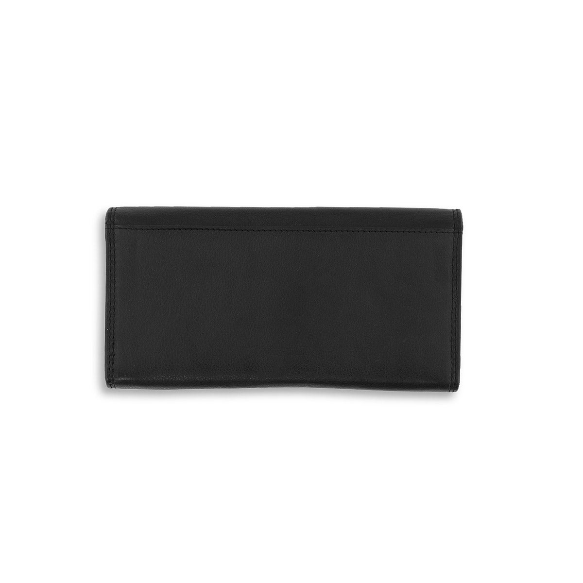 Lds black leather RFID wallet