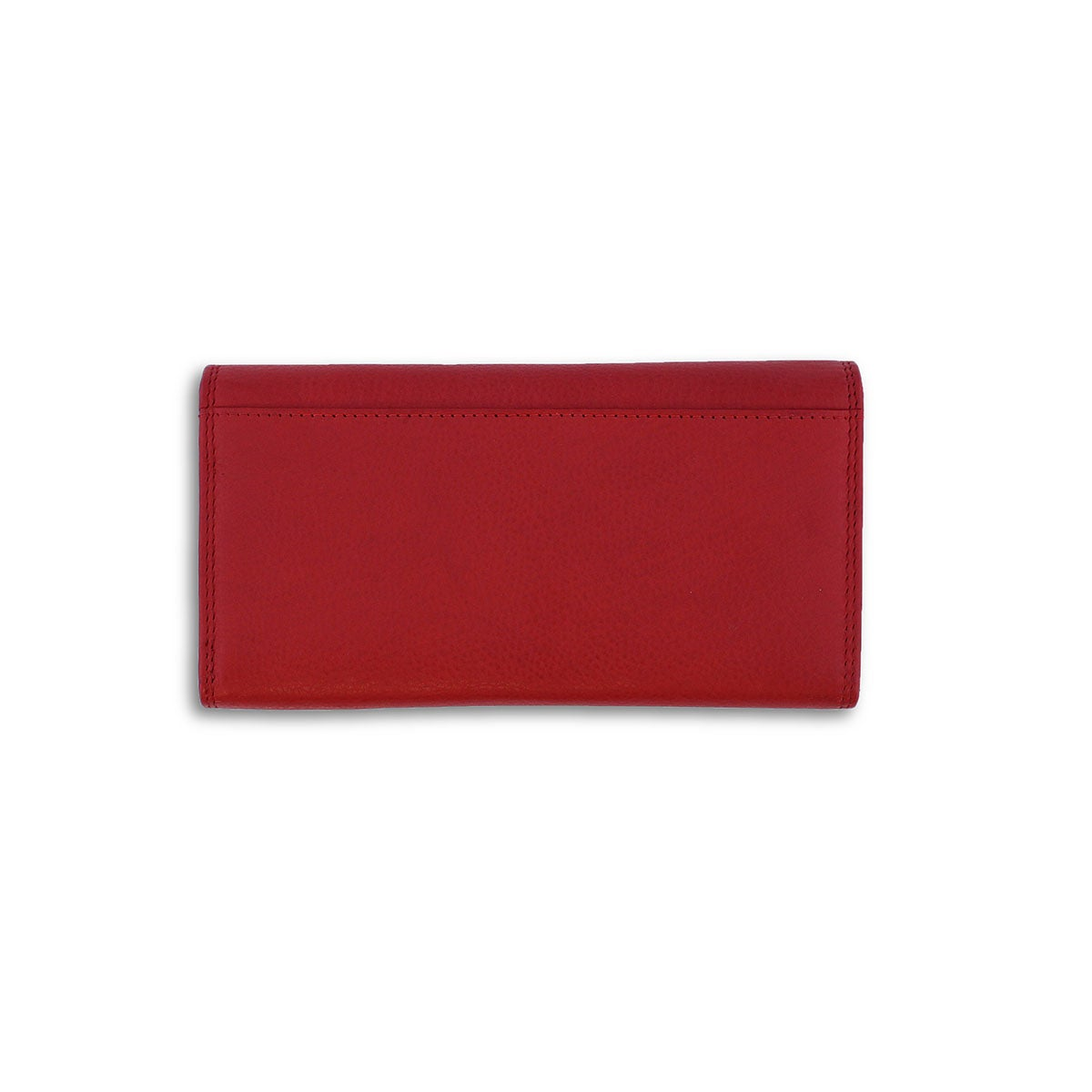Lds red leather RFID wallet