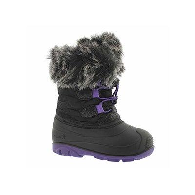 Inf-g Lychee blk/ppl winter boot