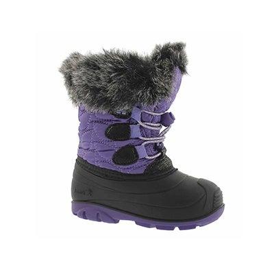 Inf-g Lychee ppl/blk winter boot