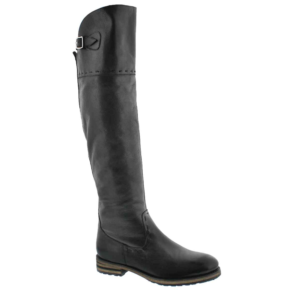 Women's LYDIA black tall riding boots