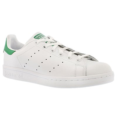 Adidas Boys' STAN SMITH white/green lace up sneakers