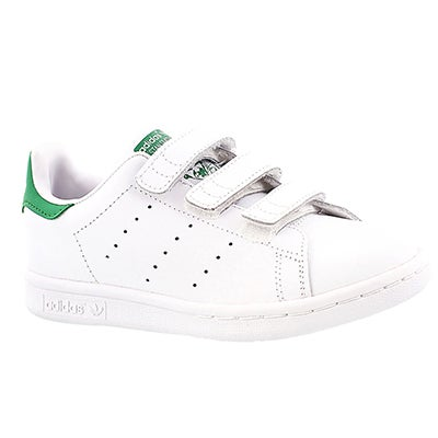Adidas Boys' STAN SMITH white/green sneakers