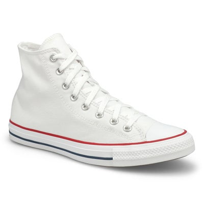 Converse Men's CHUCK TAYLOR CORE HI white canvas sneakers