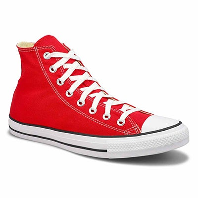 Converse Men's CHUCK TAYLOR CORE HI red canvas sneakers
