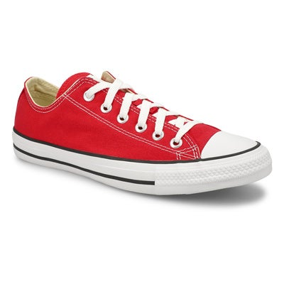 Converse Men's CHUCK TAYLOR CORE OX red canvas sneakers