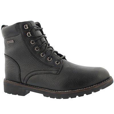SoftMoc Men's MADDUX black waterproof lace-up winter boots
