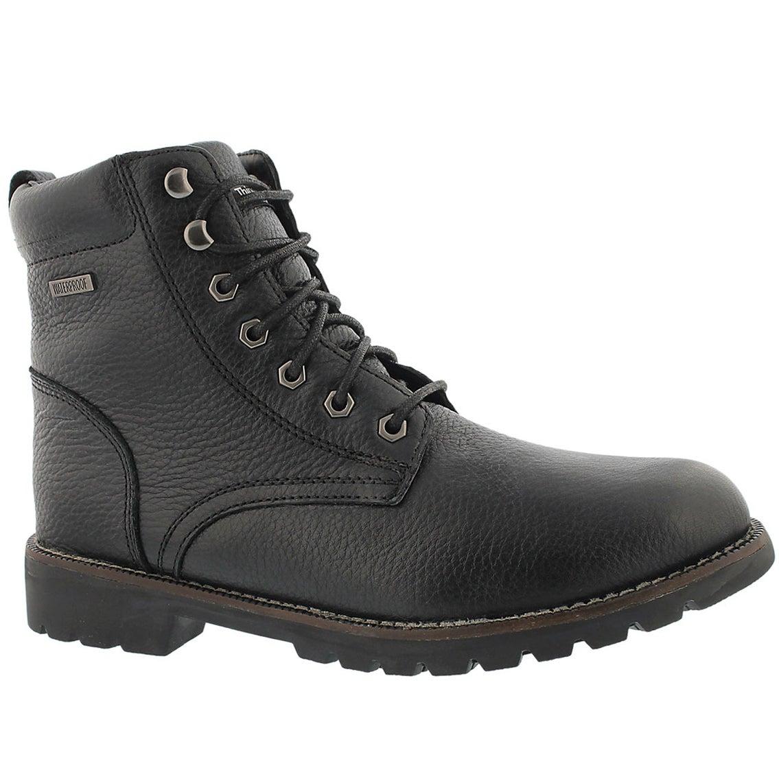 Mns Maddux blk wtpf lace-up winter boot