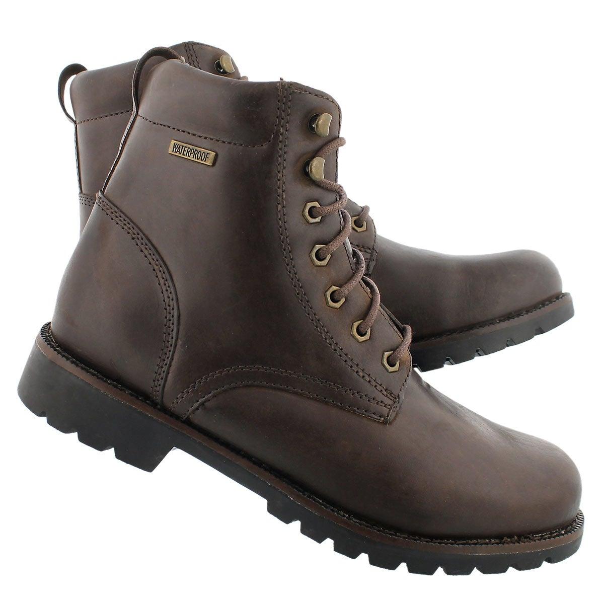 Mns Maddux brn wtpf lace-up winter boot