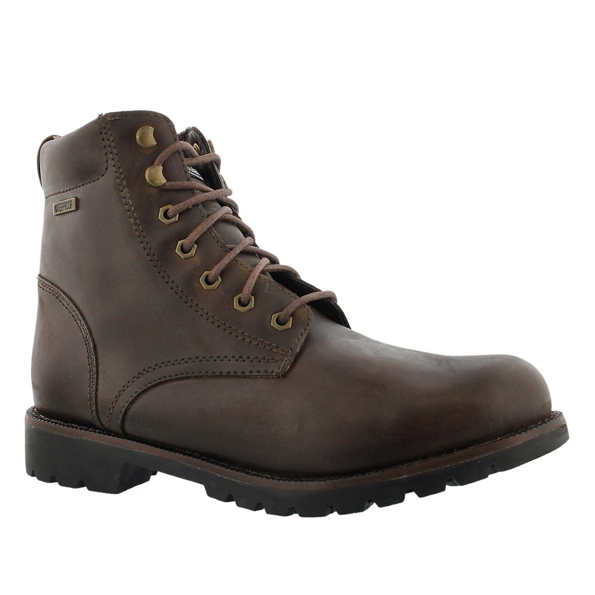 Men's MADDUX brown waterproof lace-up winter boots