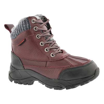 SoftMoc Women's MADELYNN burgundy wtpf winter boots
