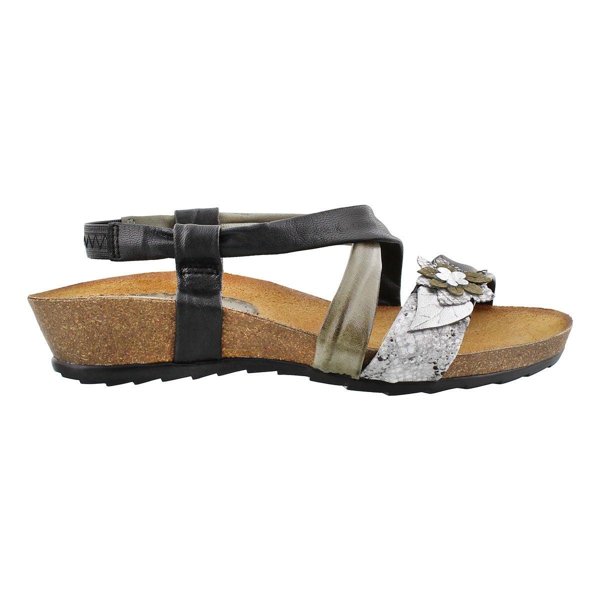 Sandale compensée Madison, noir, femmes