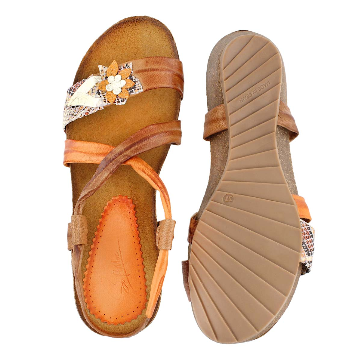 Sandale compensée Madison, havane, femme