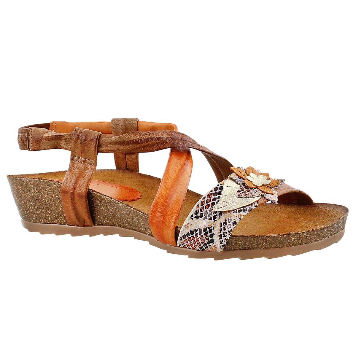 Lds Madison tan casual wedge sandal