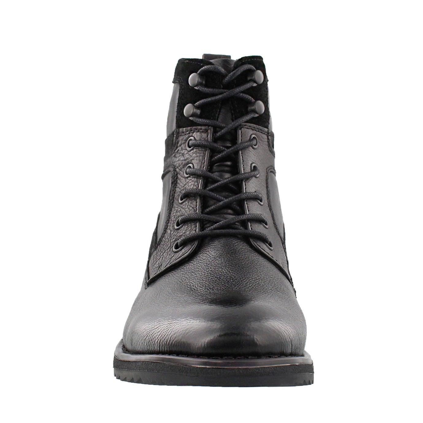 Mns Maldini black leather ankle boot
