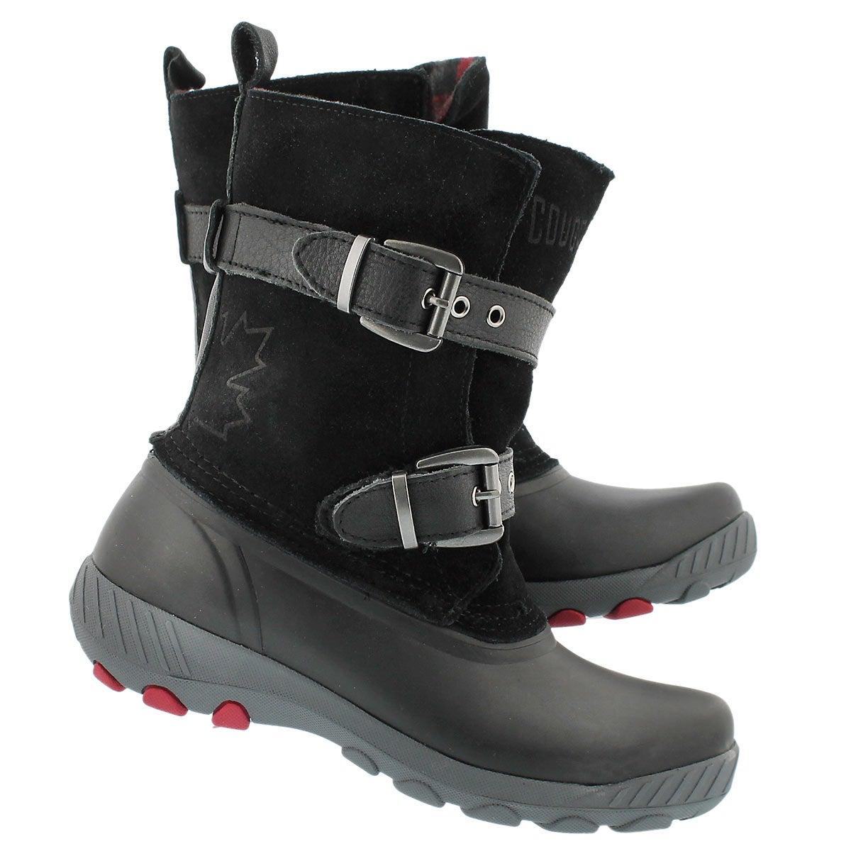 Lds Maple Creek blk wtprf pull wntr boot