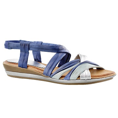 SoftMoc Women's MARIE blue casual sandals