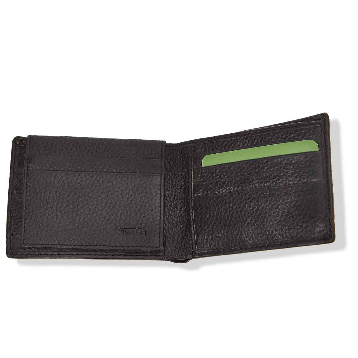 Mns Marine blk combo slimfold wallet
