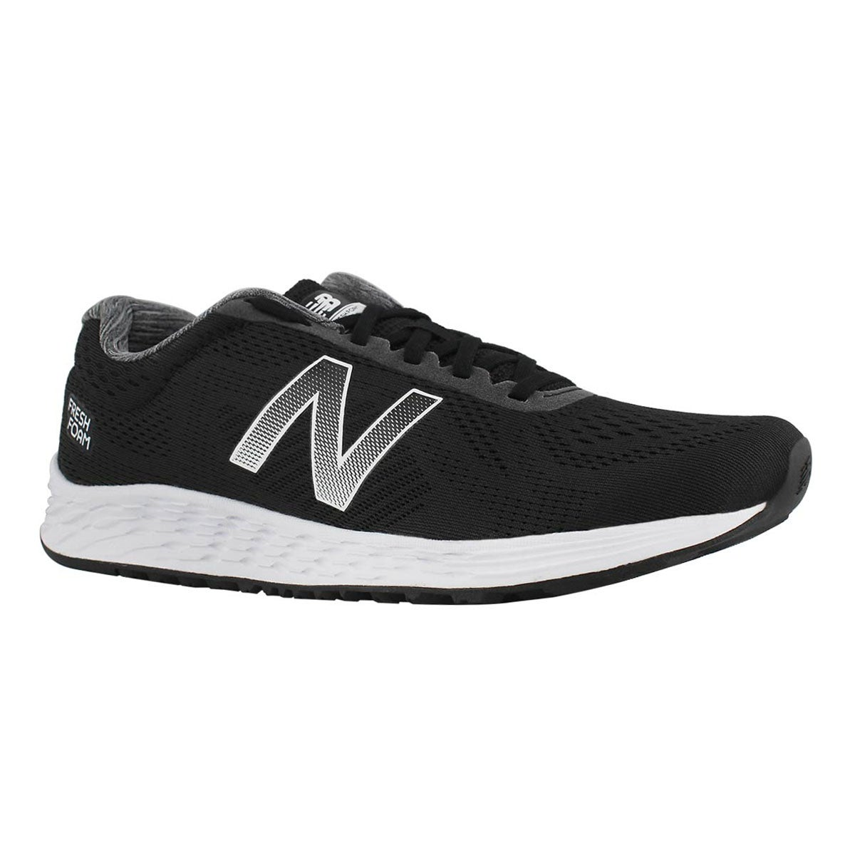 Mns Arishi blk/wht lace up running shoe