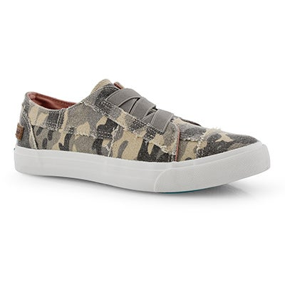 Lds Marley camo slip on fashion sneakers
