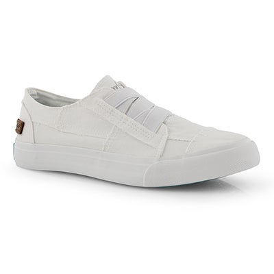 Lds Marley white slip on fashion sneaker