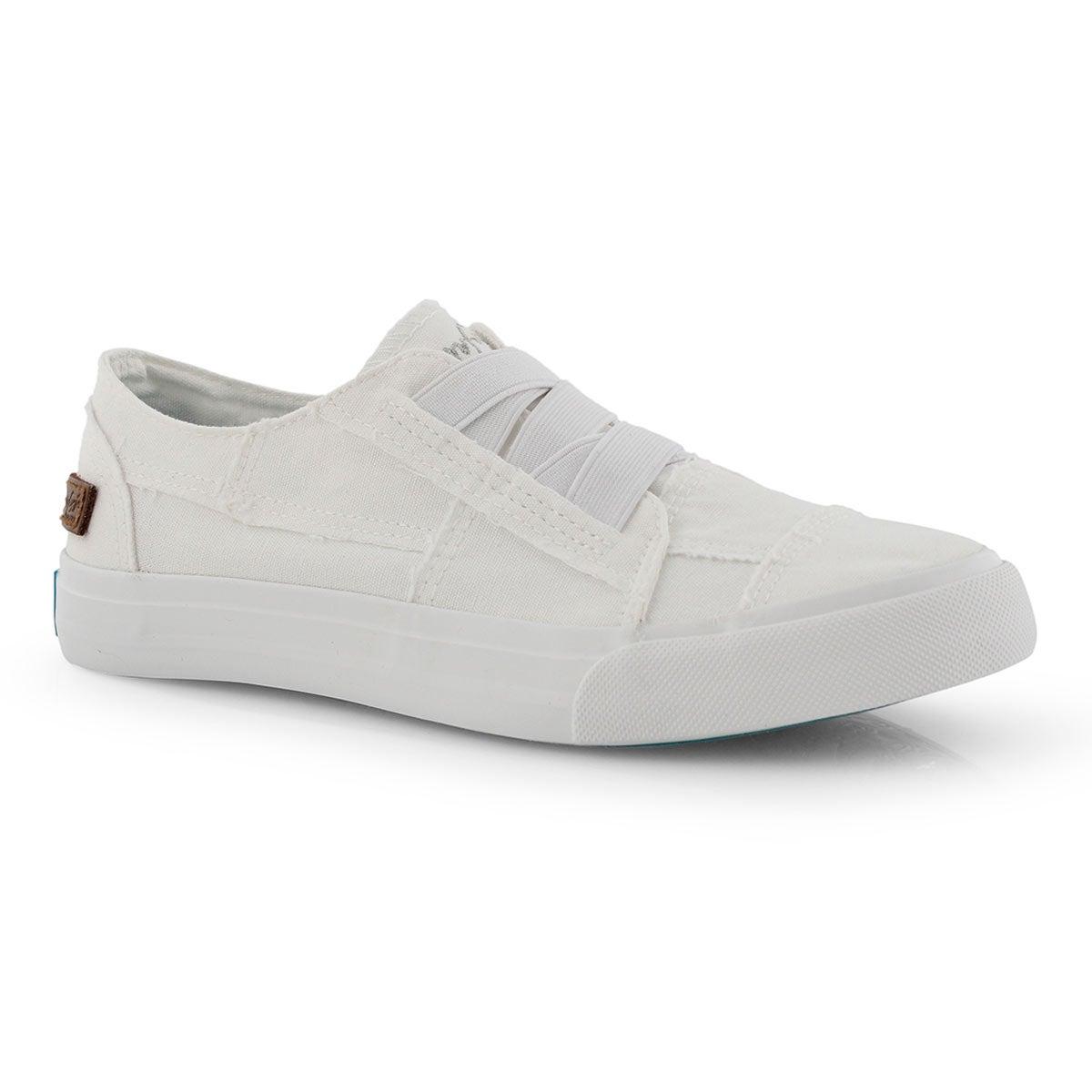 Lds Marley white slip on fashion sneaker