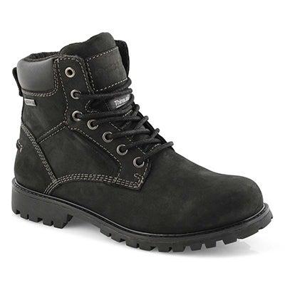 Lds Martina black wtpf combat boot