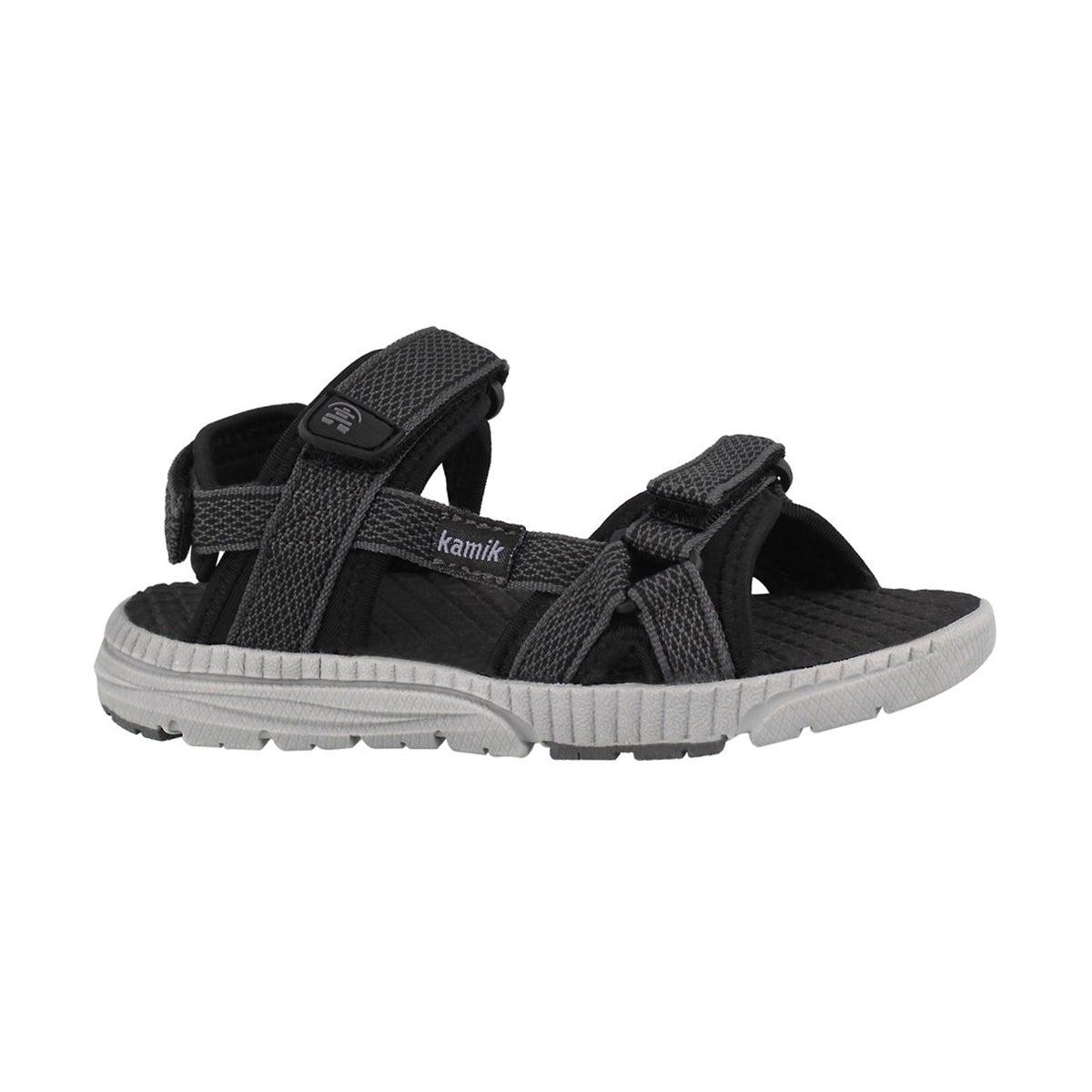 Bys Match black 3 strap sandal