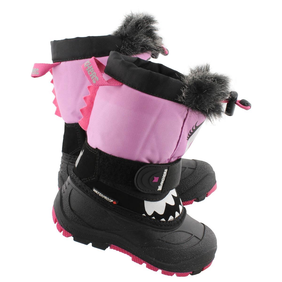 Bottes d'hiver MaxEye noir/rose, filles