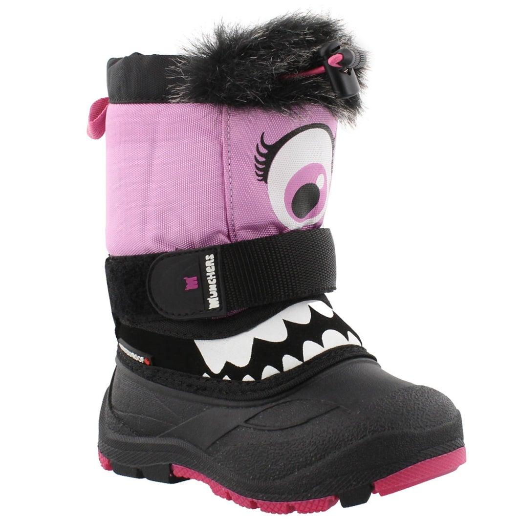 Grls MaxEye blk/pink wtpf winter boot