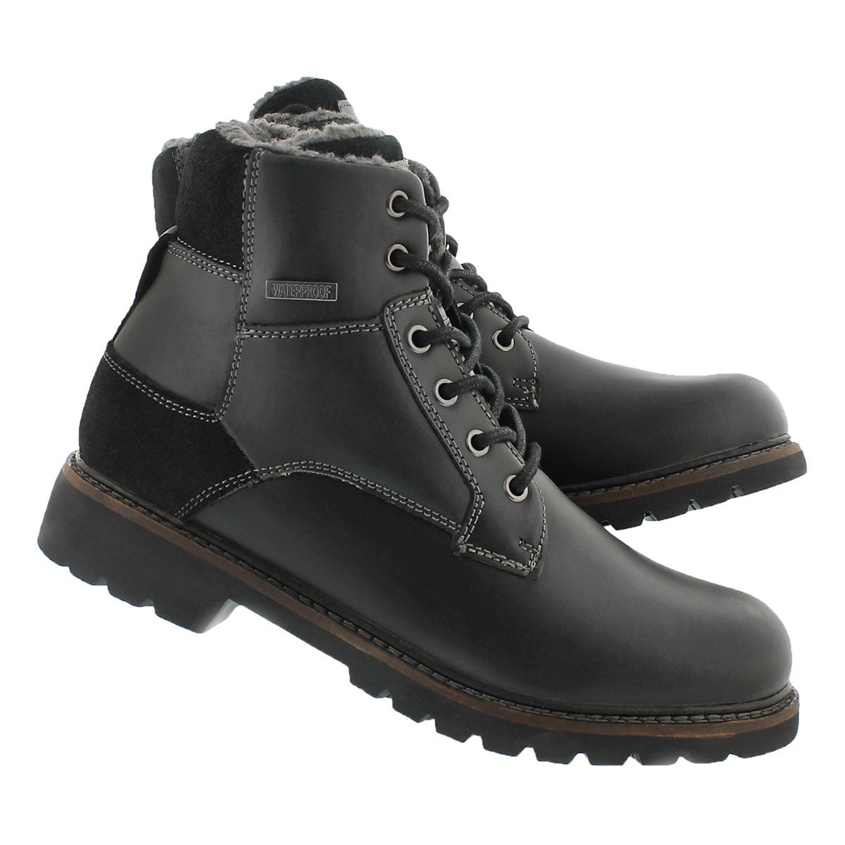Mns Maxwell blk lace up winter boot