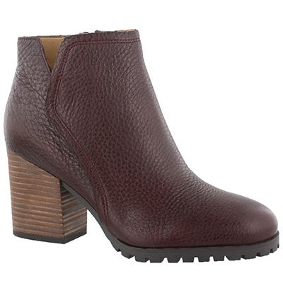 Lds Maysen burgundy slip on bootie