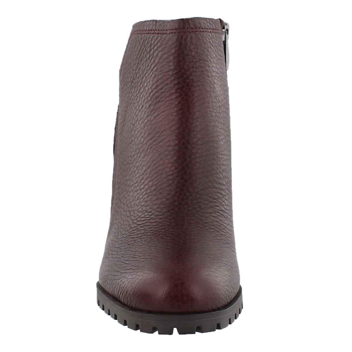 Lds Maysen burgundy slip on bootie