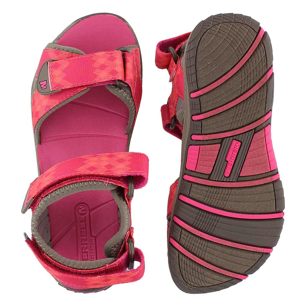 Grls Surf Strap 2.0 brn/pnk sport sandal