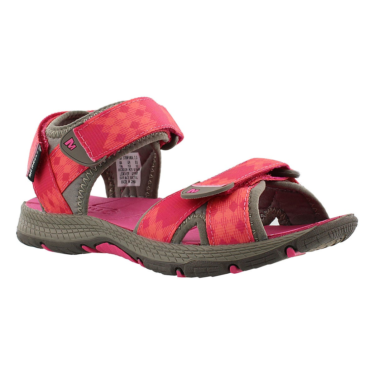 Girls' SURF STRAP 2.0 brown/pink sport sandals