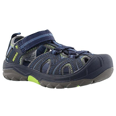Merrell Boys' HYDRO navy/green fisherman sandals