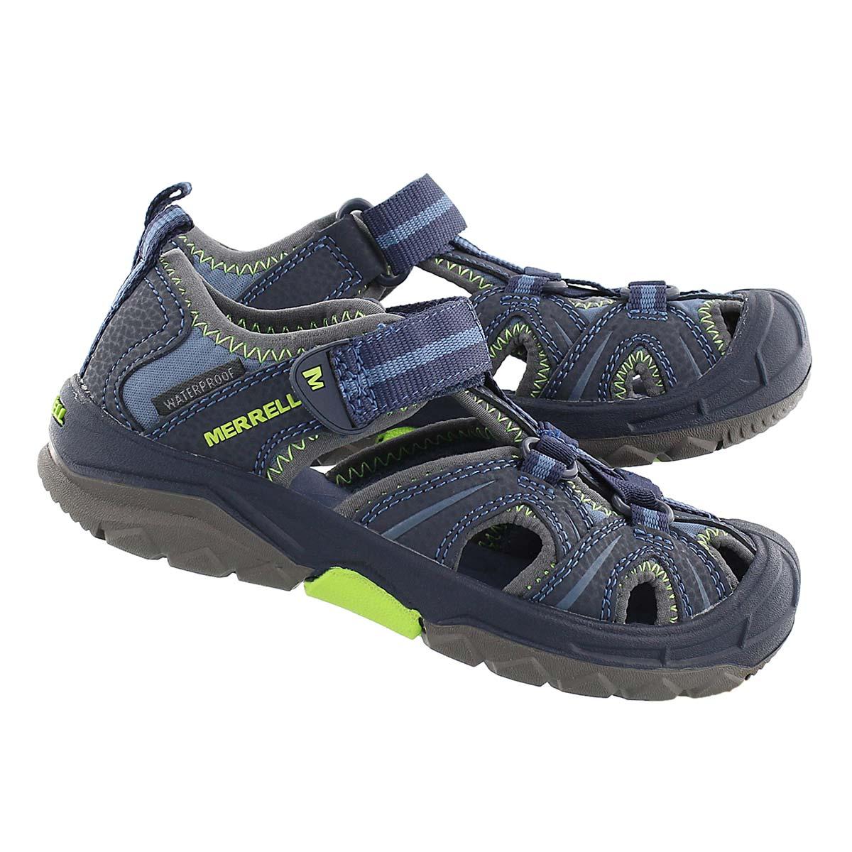 Bys Hydro nvy/green fisherman sandal