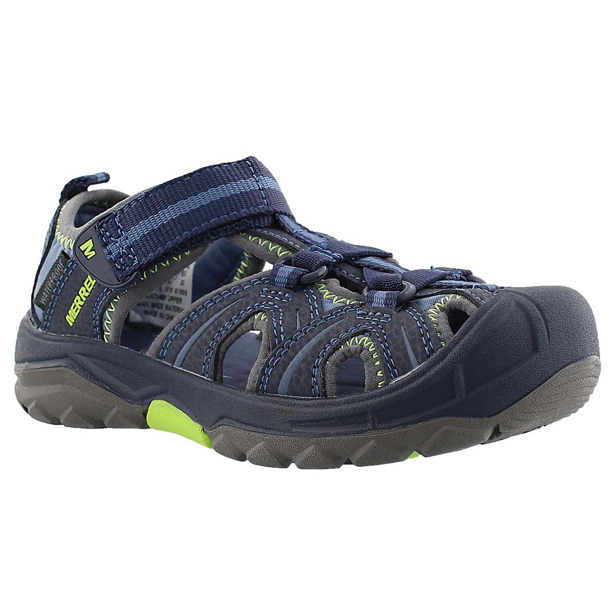 Boys' HYDRO navy/green fisherman sandals