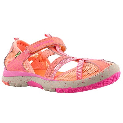 Grls HydroMonarch coral fisherman sandal