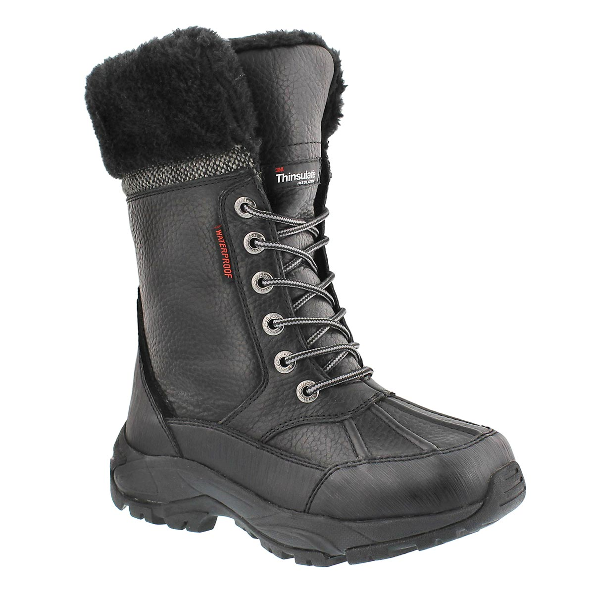 Lds Megan black lace-up wtpf winter boot