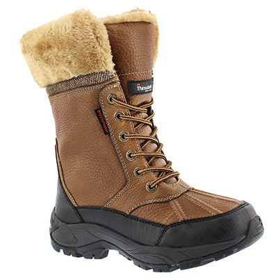 SoftMoc Women's MEGAN tan lace-up waterproof winter boots