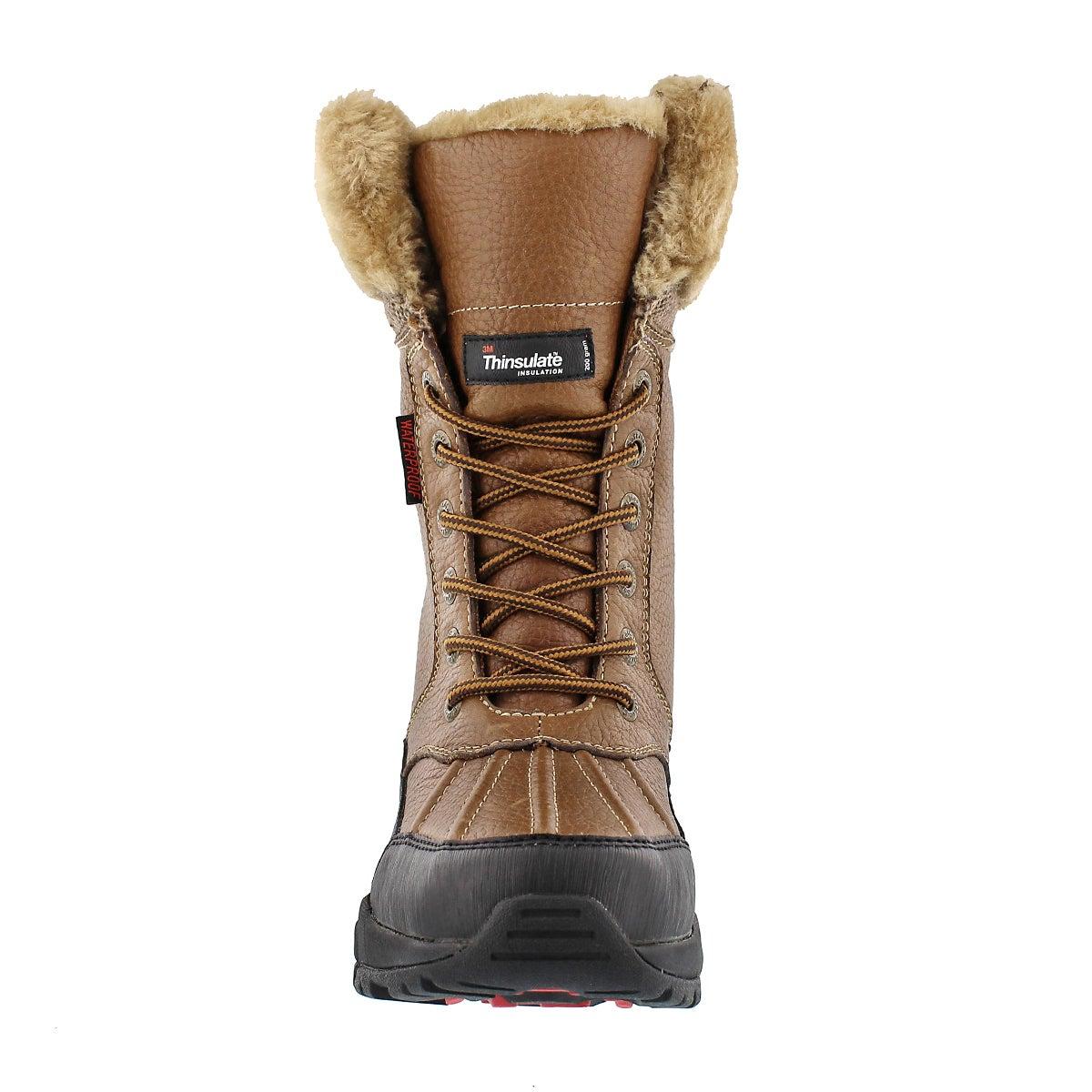 Lds Megan tan lace-up wtpf winter boot